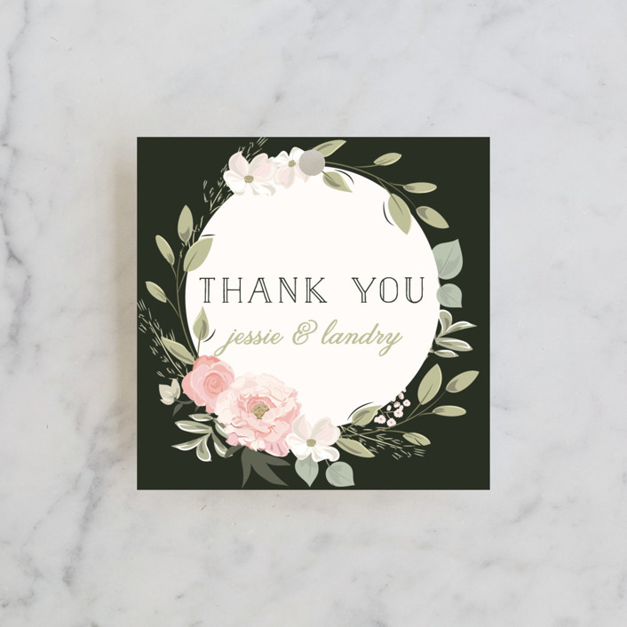 """Petal Surround"" - Wedding Favor Tags in Blush by Susan Moyal."