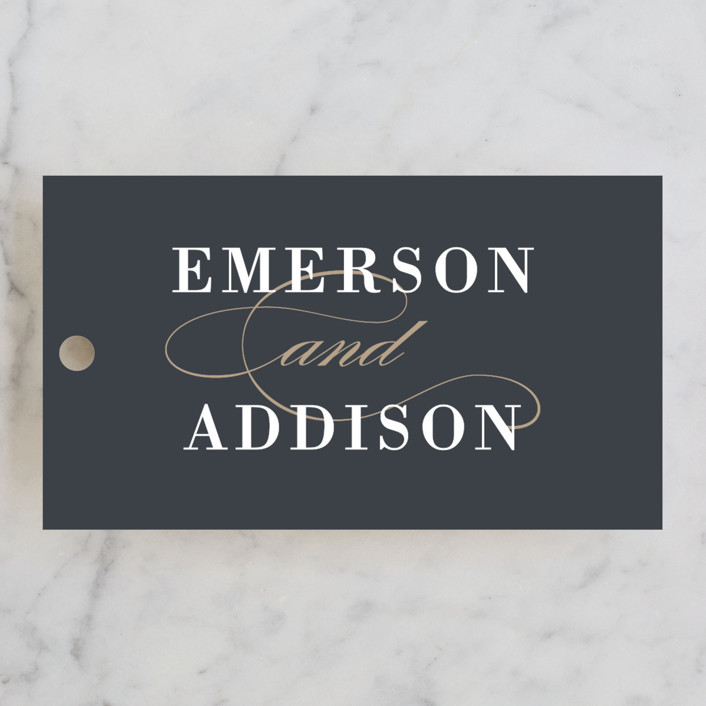 """Unconditional"" - Wedding Favor Tags in Granite by Lauren Chism."