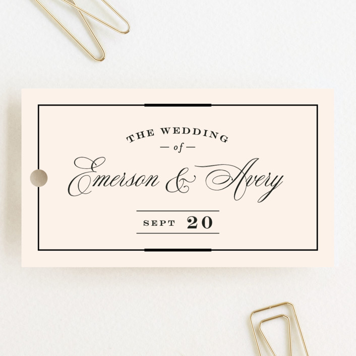 """""""Cambridge"""" - Wedding Favor Tags in Ivory by Little Words Design."""