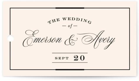 Cambridge Wedding Favor Tags