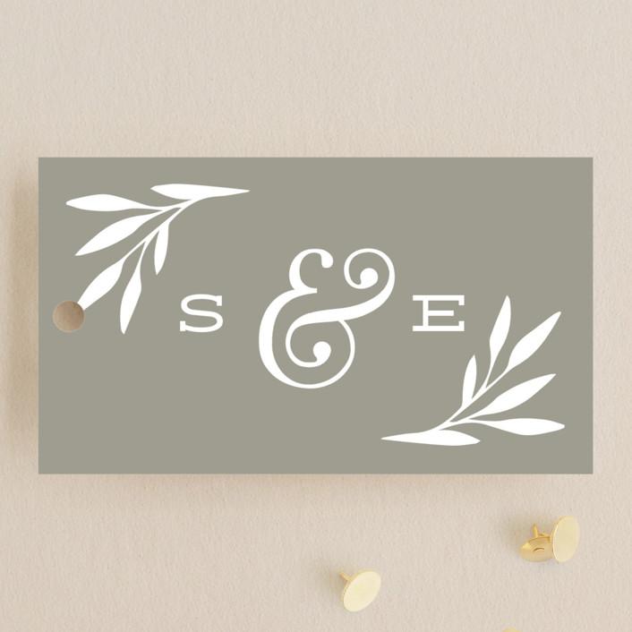 """Wonderland"" - Wedding Favor Tags in Slate by Laura Hankins."