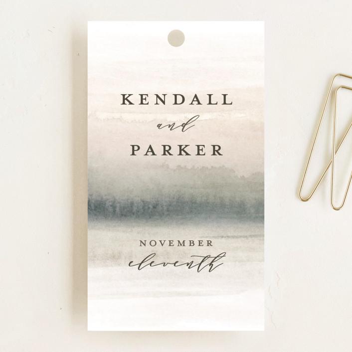 """OCEANS"" - Wedding Favor Tags in Ocean by Wildfield Paper Co.."