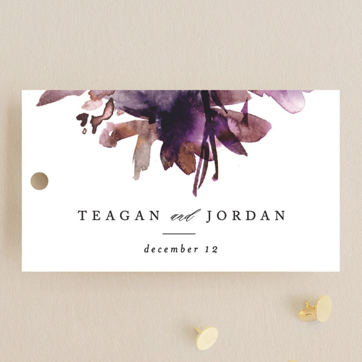 """""""Shimmer"""" - Wedding Favor Tags in Mauve by Lori Wemple."""