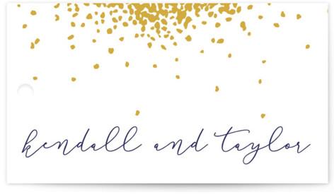 Confetti Wedding Favor Tags