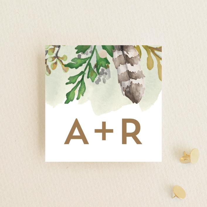 """Bohemian Beauty"" - Wedding Favor Tags in Garden by AK Graphics."