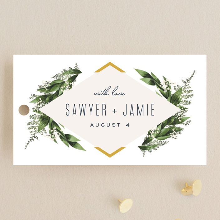 """""""Diamante"""" - Wedding Favor Tags in Forest by Leah Bisch."""