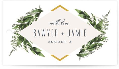 Diamante Wedding Favor Tags