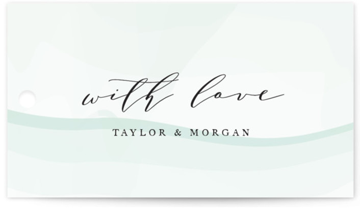 This is a modern, painterly, blue, gold Wedding Favor Tags by Jennifer Postorino called Formal Watercolor with Standard printing on Signature in Tag Flat Card format. Add the perfect finishing touch to all of your wedding gifts with these chic ...