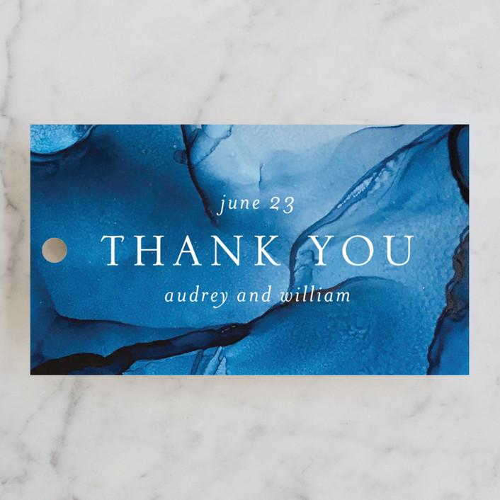 """blue tides"" - Wedding Favor Tags in Sea Blue by Erin Deegan."