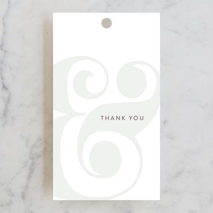"""""""Floral Ampersand"""" - Wedding Favor Tags in Mustard by Johanna McShan."""
