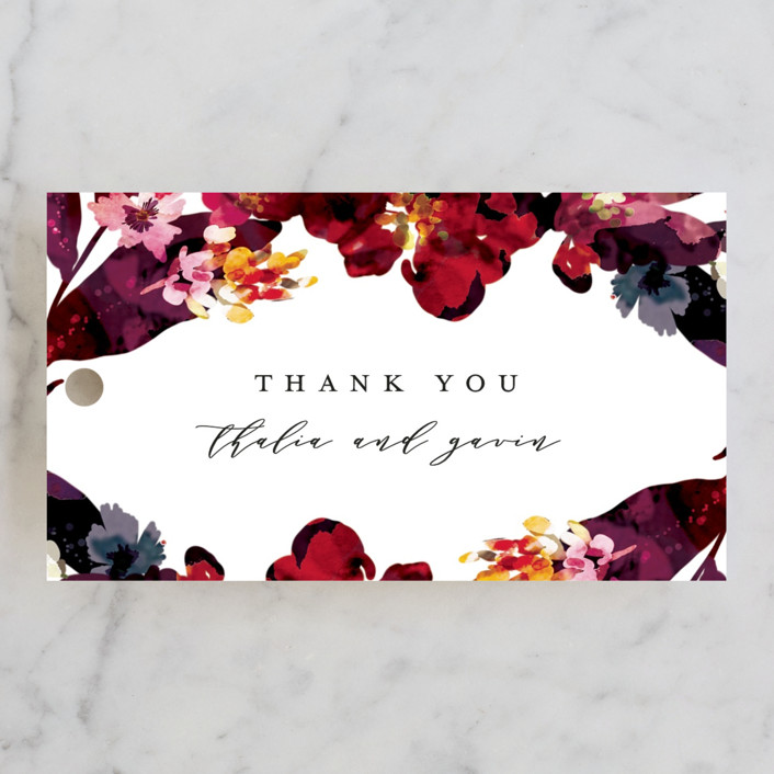 """Tidal Blooms"" - Wedding Favor Tags in Holly by Grace Kreinbrink."
