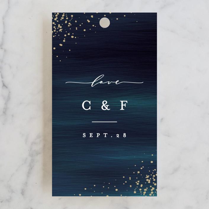 """Cosmic"" - Wedding Favor Tags in Galaxy by Ana Sharpe."