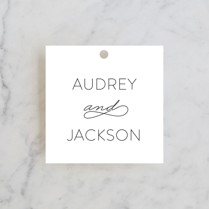 """""""Forever And"""" - Wedding Favor Tags in Black Tie by Kim Dietrich Elam."""