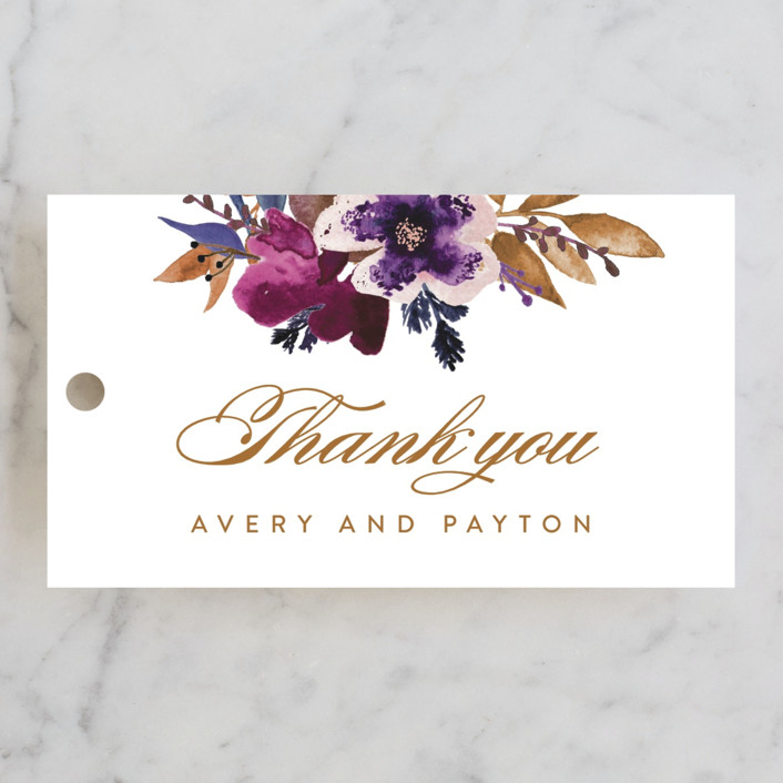 """""""Fall romance"""" - Wedding Favor Tags in Jewelled by Creo Study."""