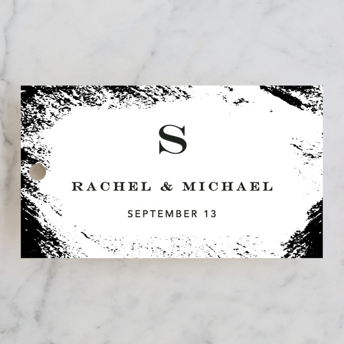 """""""Edgy Charm"""" - Wedding Favor Tags in Ivory by Kimberly FitzSimons."""