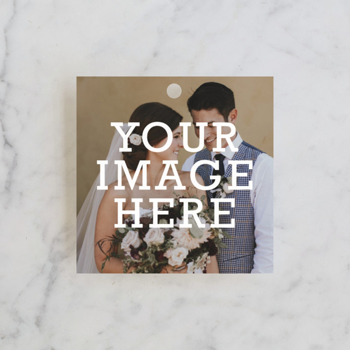 """""""The Big Picture"""" - Wedding Favor Tags in Ivory by Minted."""