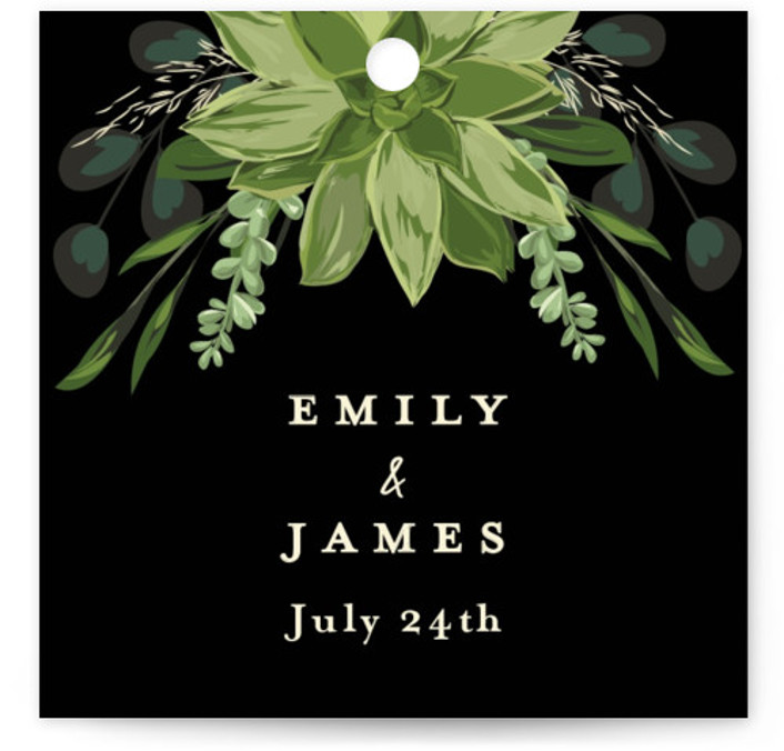 Agave & Greens Wedding Favor Tags