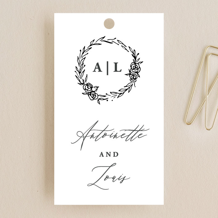 """""""Antoinette"""" - Wedding Favor Tags in Ivory by lulu and isabelle."""