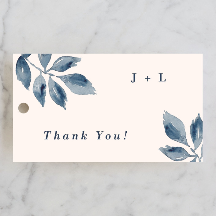 """""""Southern Comfort"""" - Wedding Favor Tags in French Blue by Chris Griffith."""