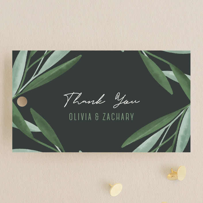 """Oliviers"" - Wedding Favor Tags in Spring by Gwen Bedat."