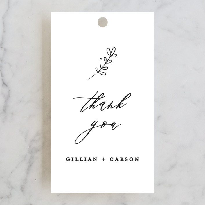 """Villa"" - Wedding Favor Tags in Pearl by Chryssi Tsoupanarias."
