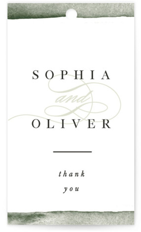 This is a bold and typographic, painterly, green Wedding Favor Tags by Pixel and Hank called First Love with Standard printing on Signature in Tag Flat Card format. Add the perfect finishing touch to all of your wedding gifts with ...