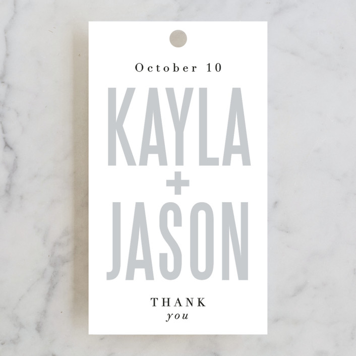 """Monumental"" - Wedding Favor Tags in Cotton by Jessie Steury."