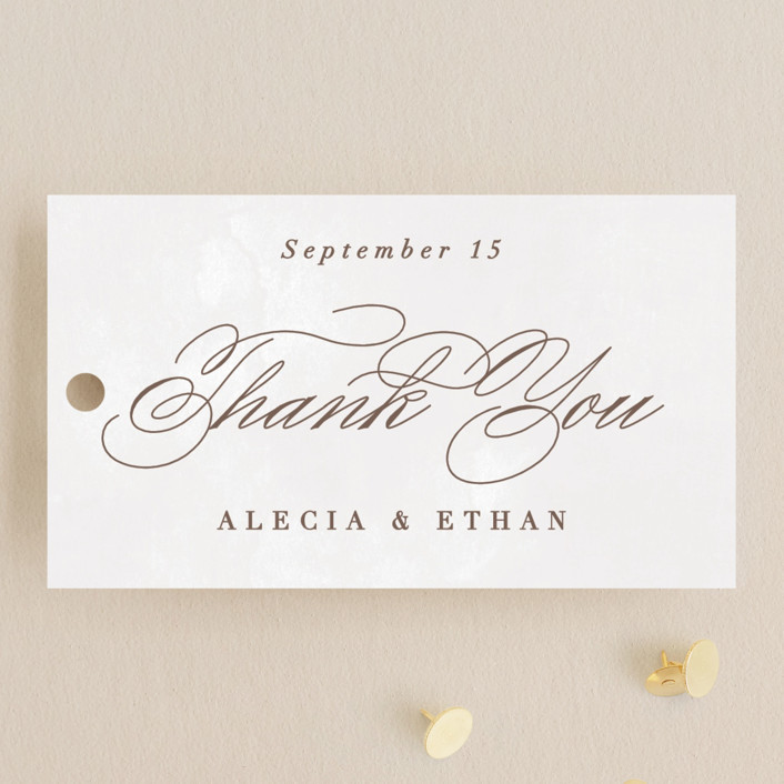 """Sonesta"" - Wedding Favor Tags in Mineral by Hooray Creative."