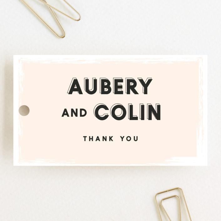 """bold blush"" - Wedding Favor Tags in Blush by frances."