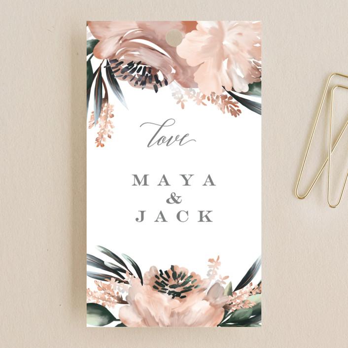 """Maya Rustica"" - Wedding Favor Tags in Rose by Petra Kern."