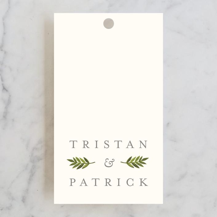 """""""Watercolor Laurels"""" - Wedding Favor Tags in Leaf by Katharine Watson."""