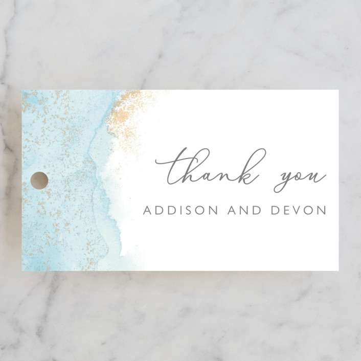 """My tenderness"" - Modern Wedding Favor Tags in Topaz by Helen Halik."