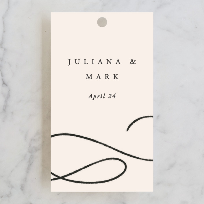 """Fountain Pen"" - Wedding Favor Tags in Creme by Erin L. Wilson."