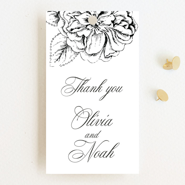 """Legacy"" - Wedding Favor Tags in Pure by Design Lotus."