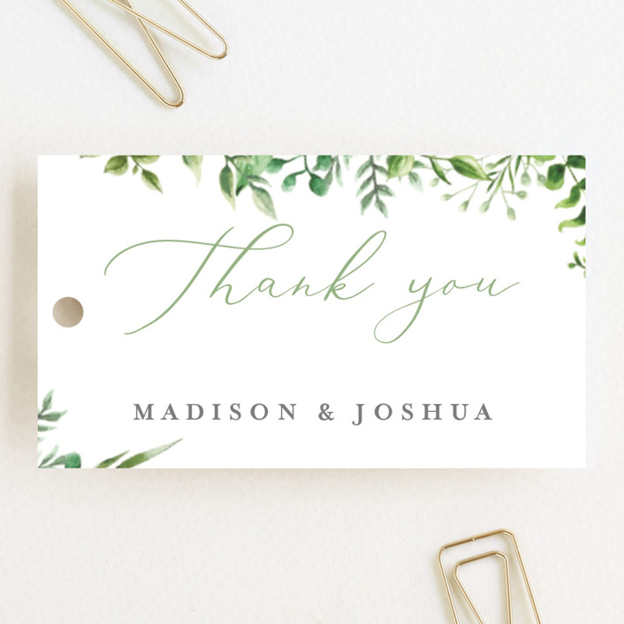 """Bright & Green"" - Wedding Favor Tags in Sprig by Amanda Day."