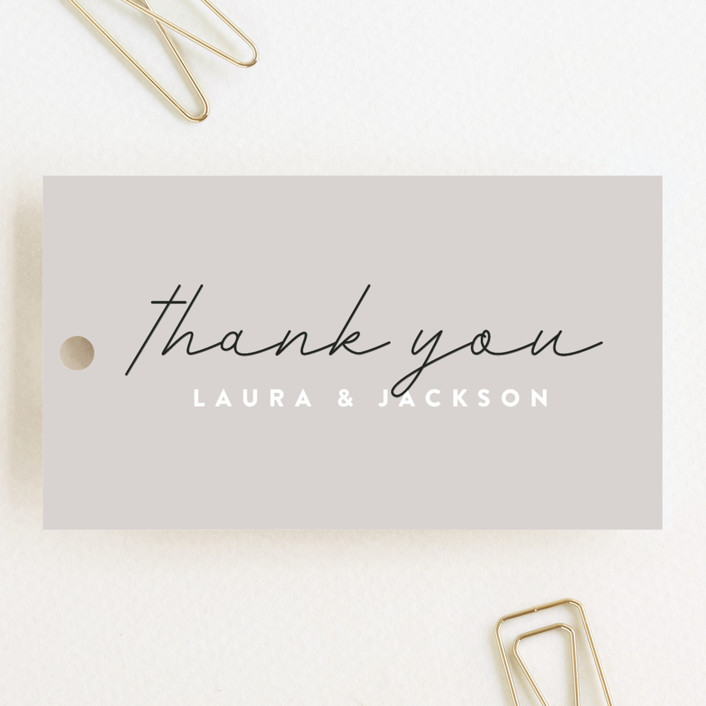 """""""Styled"""" - Wedding Favor Tags in Fog by Pixel and Hank."""