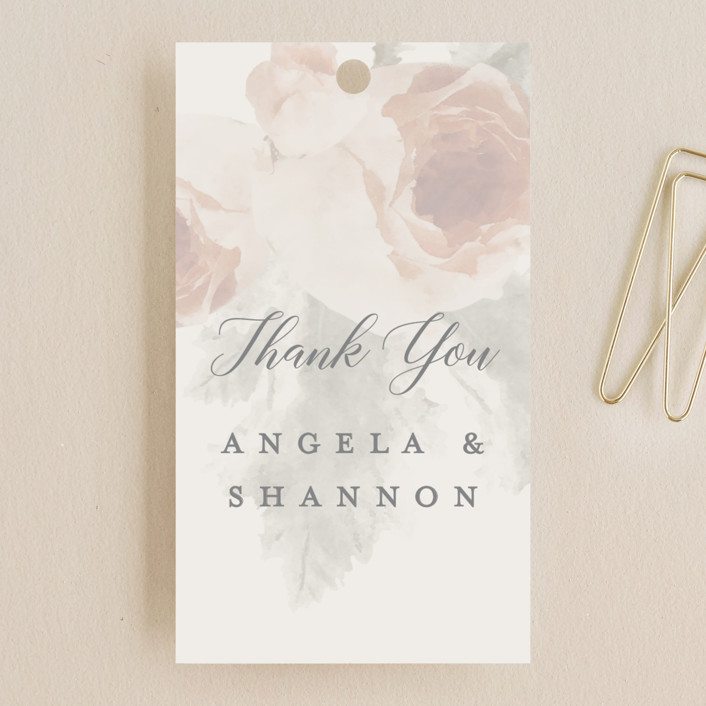 """""""rose drop"""" - Rustic Wedding Favor Tags in Rose by Cassandra Imagines."""