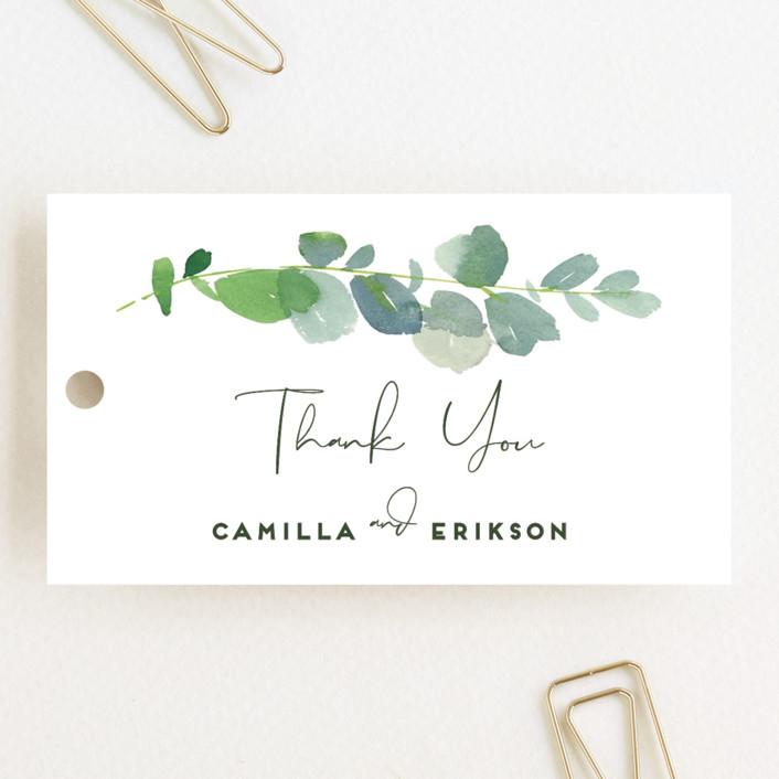"""""""Soft Eucalyptus"""" - Wedding Favor Tags in Garden by Yao Cheng Design."""