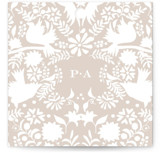 This is a grey wedding favor tag by Lagniappe Paper called Hacienda with standard printing on signature in tag.