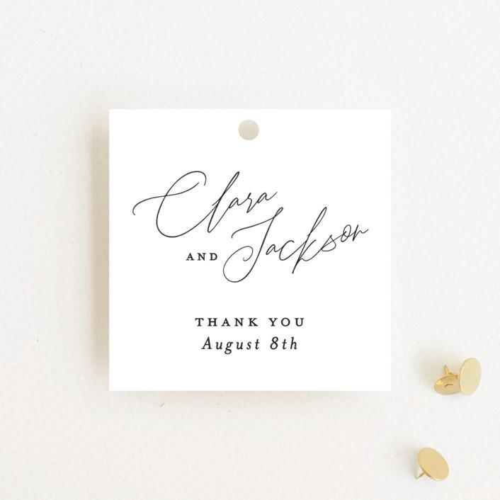 """Bare"" - Wedding Favor Tags in Cloud by Kelly Nasuta."