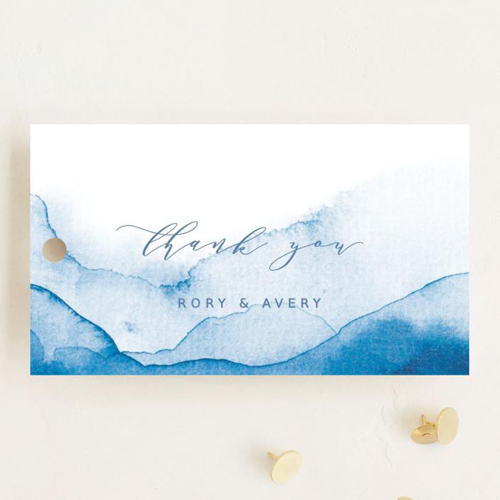 """""""Watercolor waves"""" - Wedding Favor Tags in Ocean by Yuliya Evseeva."""