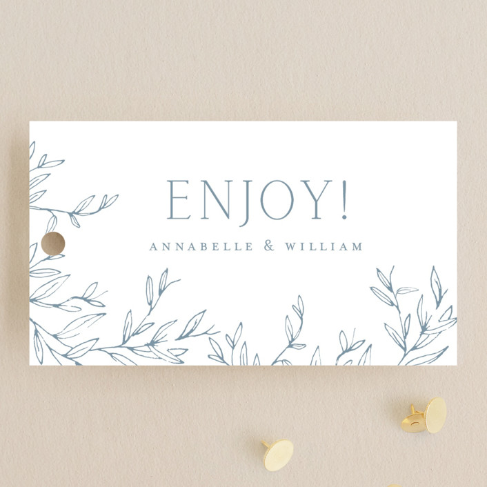 """""""Love Beyond Measure"""" - Wedding Favor Tags in Mineral by Oscar & Emma."""