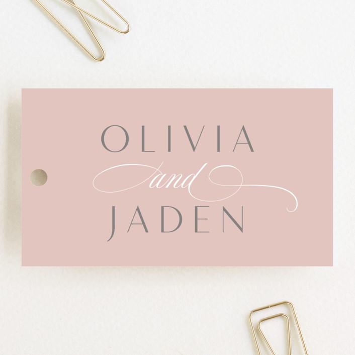 """Gramercy"" - Wedding Favor Tags in Blush by Kristie Kern."