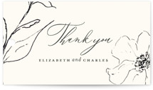 This is a white wedding favor tag by Design Lotus called Elysium with standard printing on signature in tag.