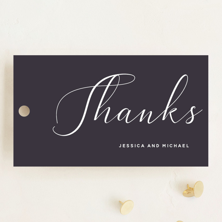 """""""Right Side"""" - Wedding Favor Tags in Blackberry by Susan Brown."""