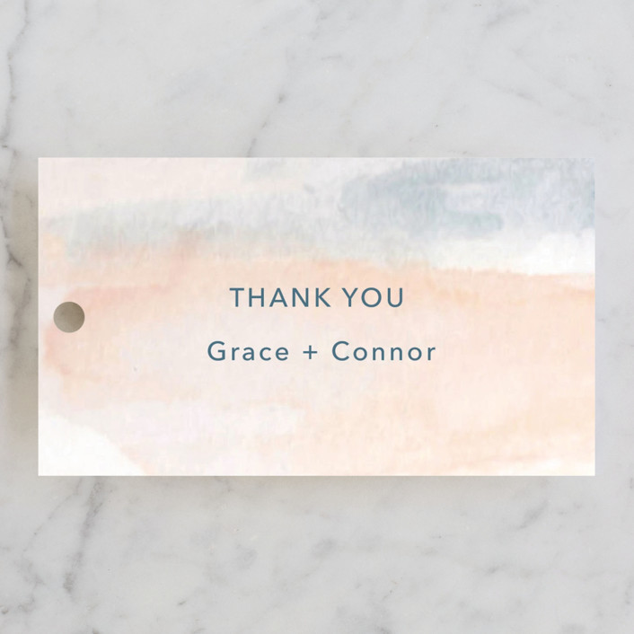 """""""Sea and Sand"""" - Wedding Favor Tags in Cortez by Jenny Partrite."""