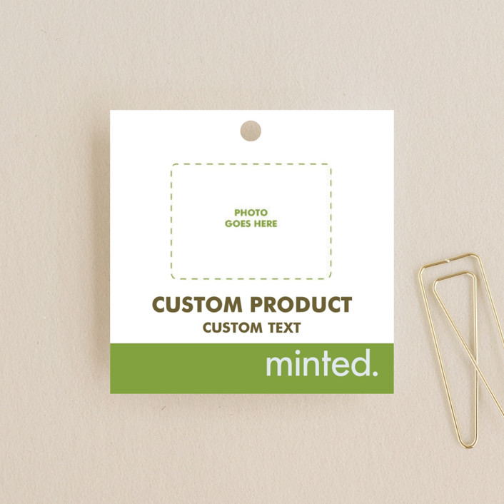 """Square"" - Wedding Favor Tags in Charcoal by Minted Custom."