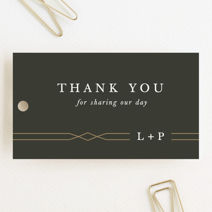 """""""Traditional Twist"""" - Wedding Favor Tags in Cream by Sarah Brown."""