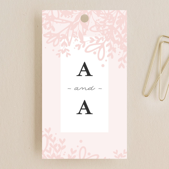 """Gem"" - Rustic Wedding Favor Tags in Blush by lena barakat."