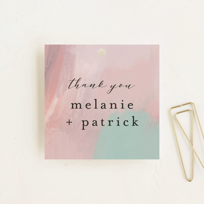 """""""Impressions"""" - Wedding Favor Tags in Peachy by Lindsay Megahed."""